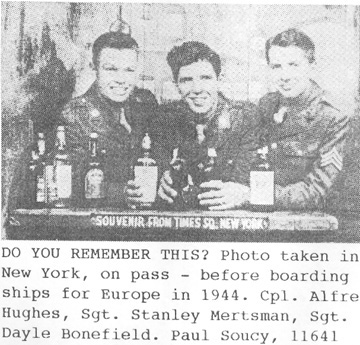I Co 253d Infantry soldiers in New York Nov 44