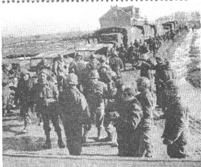 363rd Med Bn on the Road from Marseilles, Feb 45