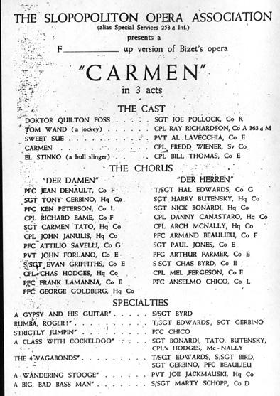 Carmen Program