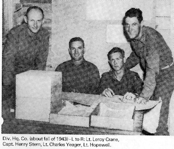 Officers of Hq Co 63d Inf Div Camp van Dorn