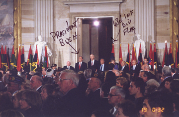63rd Infantry Division Flag & President Bush