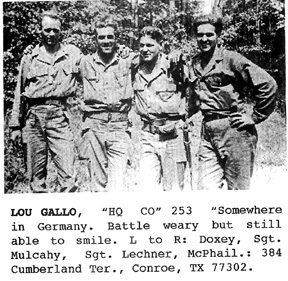 Hq Co 253d Inf in Germany 1945