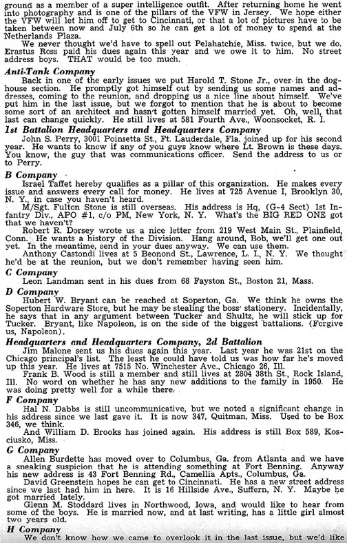 Blood and Fire Publication Page 11, January 1951