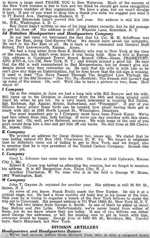 Blood and Fire Publication Page 12, January 1951