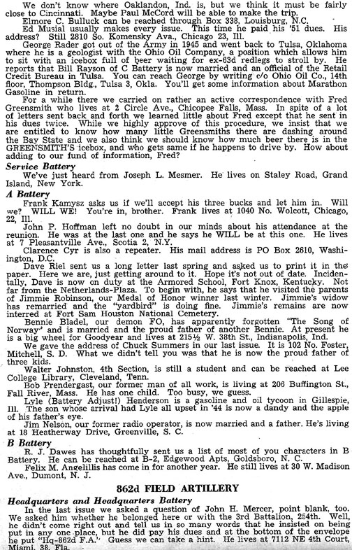 Blood and Fire Publication Page 14, January 1951