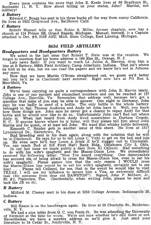 Blood and Fire Publication Page 15, January 1951