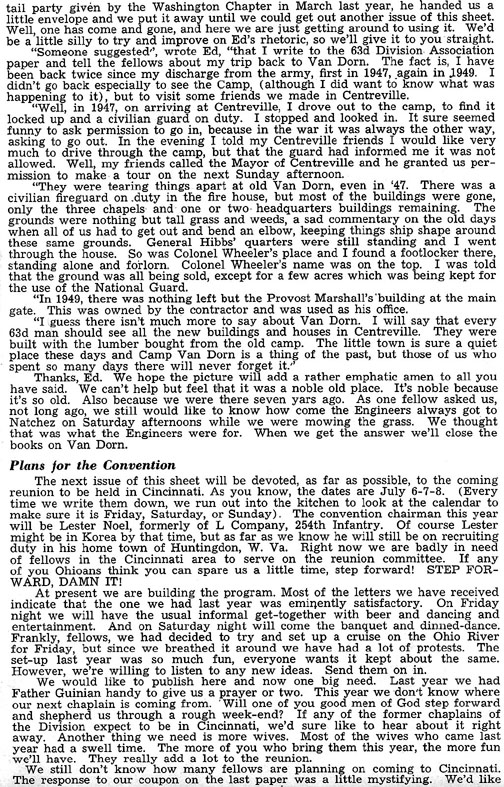 Blood and Fire Publication Page 3, January 1951