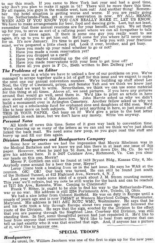 Blood and Fire Publication page 4, January 1951