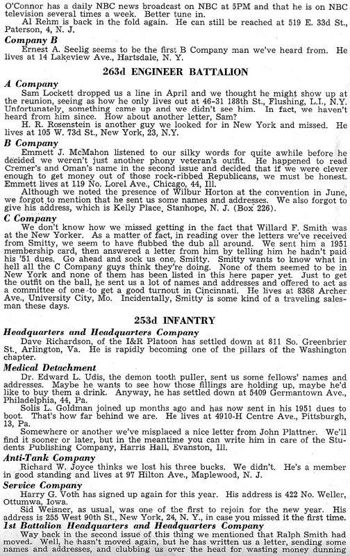 Blood and Fire Publication Page 6, January 1951