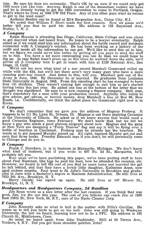 Blood and Fire Publication Page 7, January 1951