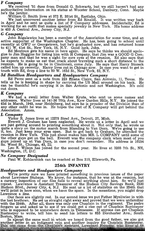 Blood and Fire Publication Page 8, January 1951