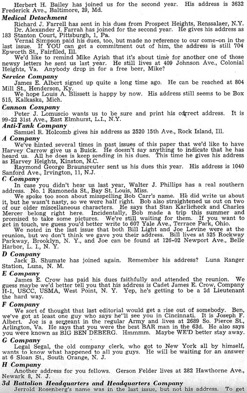 Blood and Fire Publication Page 9, January 1951