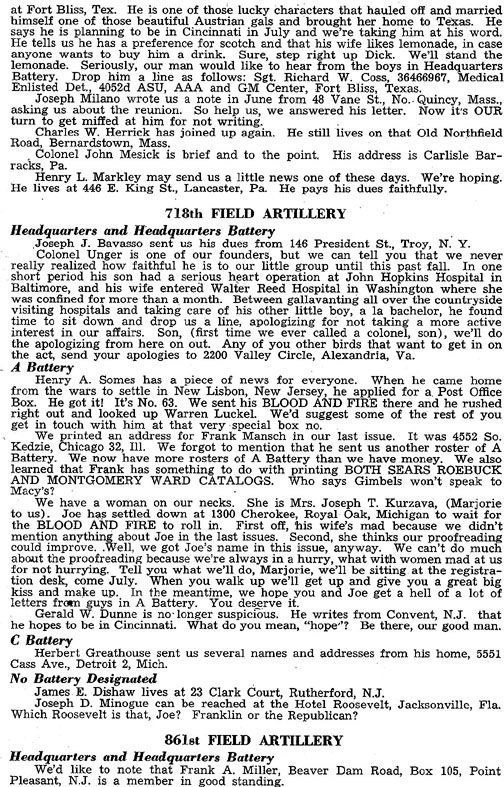 Blood and Fire Publication Page 13, January 1951