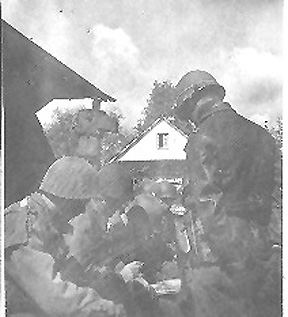 1st Bn 254th Officers plan an attack