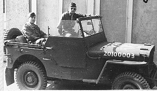 Lt McKee with 1st Bn jeep 254th Inf