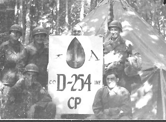 D Company CP on bivouac, 254th Inf