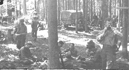 D/254th Inf on bivouac
