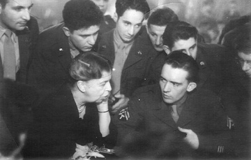 Eleanor Roosevelt visits troops in Germany 1945