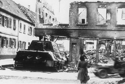 German Tank, Schwetzingen, Germany Apr 45