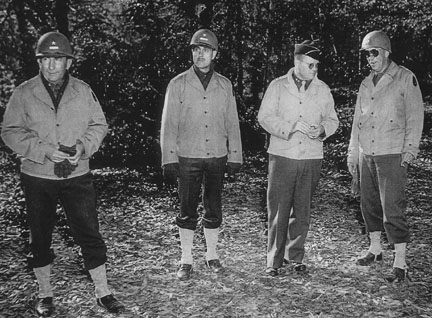 Generals in the field, Cp Van Dorn, MS 1944