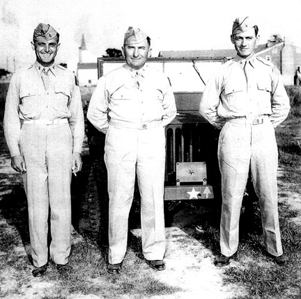 BG Harris and staff, Cp Van Dorn, MS 1944