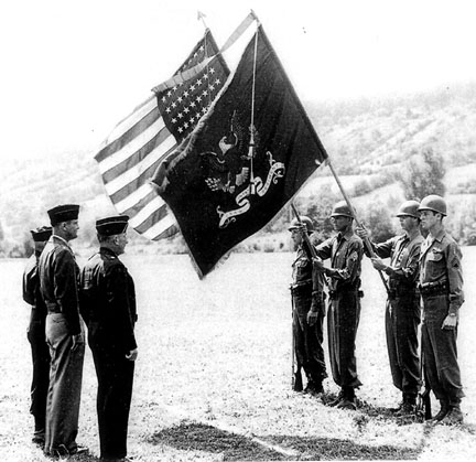 Presentation of Presidential Unit Citation to unit of 254th Inf-Germany 1945