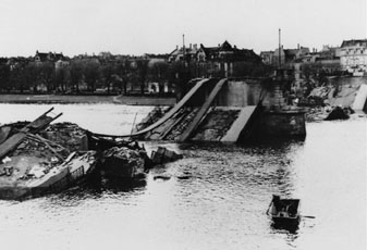"Heidelberg ""Die Alte Brucke""  March 1945"