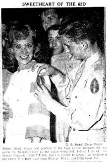Dinah Shore, Cp Van Dorn, MS 1943