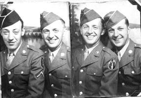 Soper and buddies, 63d Band Cp Van Dorn MS 1943
