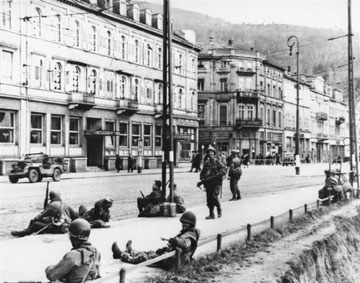 US troops resting Heidelberg, Germany 1945