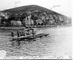 253d soldiers crossing the Neckar River at Heidelberg
