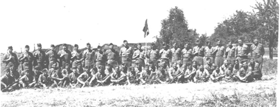 Service Battery, 718th FA Bn Jul 45