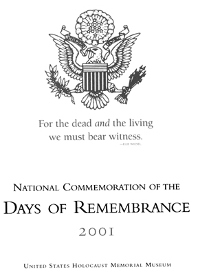 Program cover Days of Remembrance