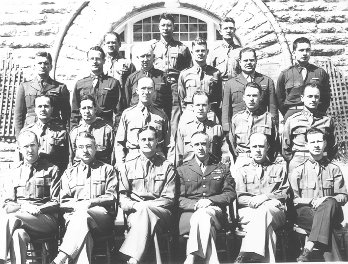 Headquarters 63rd Infantry Division Staff Officers Feb 44