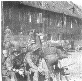 Hq 254th Infantry in Ensheim Mar 45