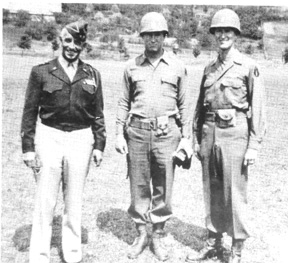 Gen Hibbs and officers Jun 45