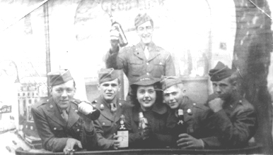 4 soldiers and a girl on pass NY Nov 44