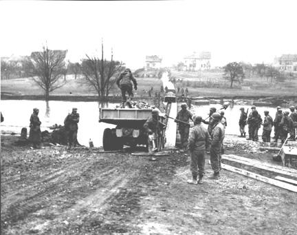 Engineers at Saar River Crossing