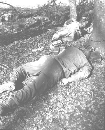 254th troops rest after Eschringen Attack 15 Mar 45