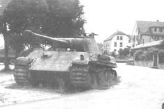 German Tiger tank near Bitche