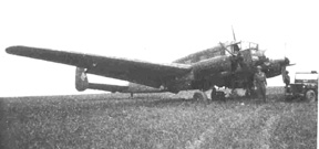 German plane lands in D/255th Inf area