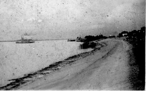 Levee at Baton Rouge, LA 1944