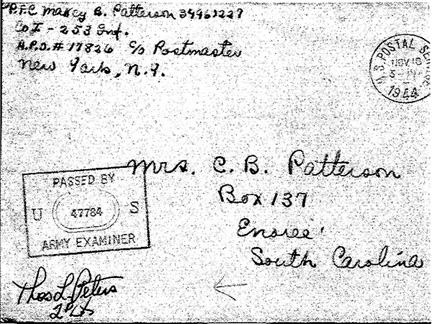 Mail to home WWII