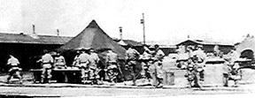 Mess Tent in Company area I/253d Inf Regt Cp Van Dorn, MS 1944