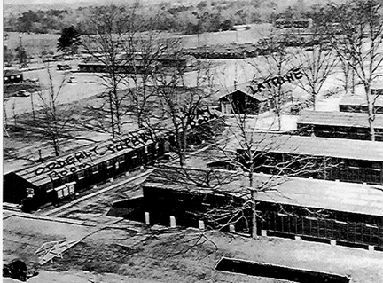 Barracks area, Cp Van Dorn, MS 1944