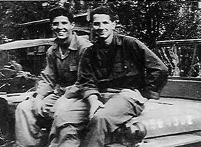 Merztman and Bonifield, I /253d Inf Regt Wertheim, Germany 1945