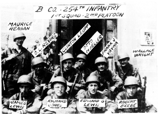 1st Squad, 2d Platoon, B Company 254th Infantry Regiment- Bad Mergentheim, Germany May 1945