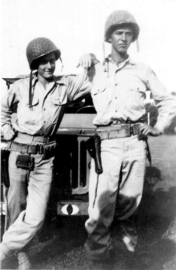 Snodgrass and Moffett, M/254th Inf Regt Cp Van Dorn, MS 1944