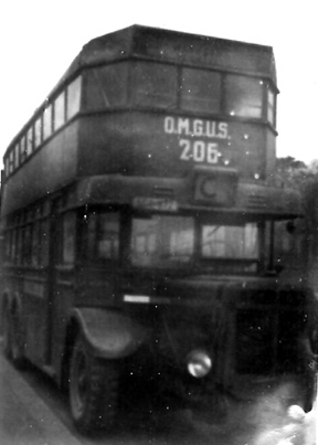 OMGUS Bus for military personnel, Berlin 1945