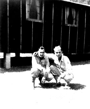 Frollo and friend M/255th Inf Regt Cp Van Dorn, MS 1944